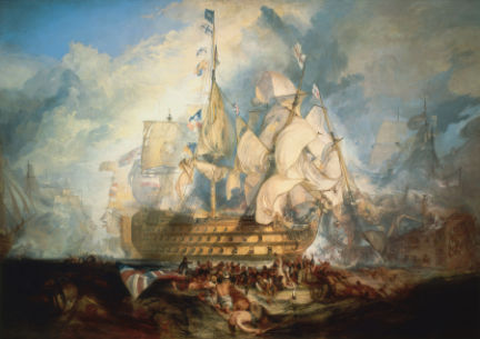 Battle of Trafalgar by Turner