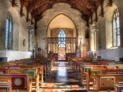 Knapton Church aisle image