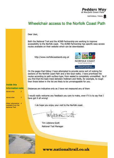 Wheelchair Access to the Norfolk Coast Path