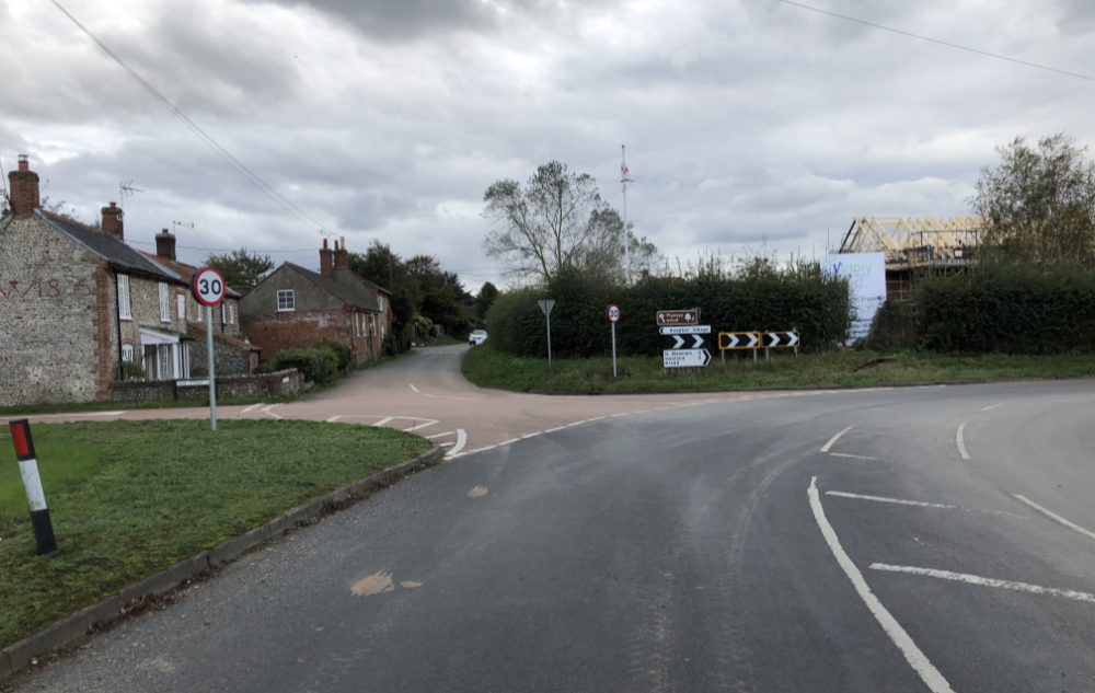 Hall Lane Junction from Mundesley image