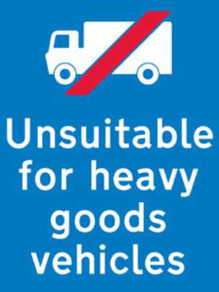 Unsuitable for HGV sign image