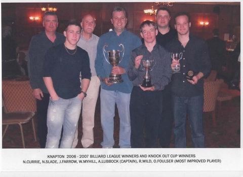 Knapton Billiards League Winners 2006-7 image