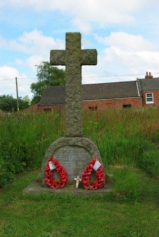 Knapton War Memorial with wreath image