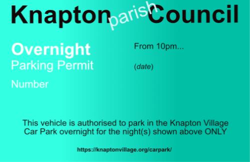 Car park permit image