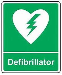 Defibrillator sign image