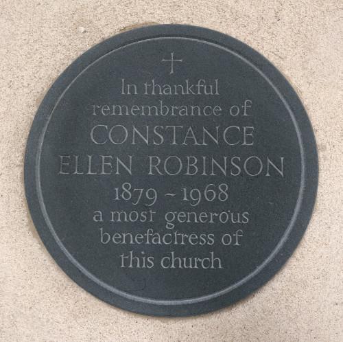 Constance Robinson - plaque 500 image