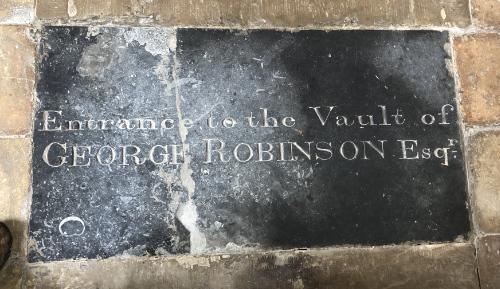 George Robinson vault 2 image