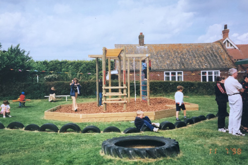 The playground in 1998 when it opened