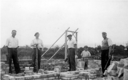 Building the working mens club - 1950 image