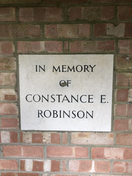 Memorial Plaque to Constance Robinson