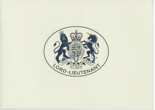 Cover of the Lord-Lieutenant Card