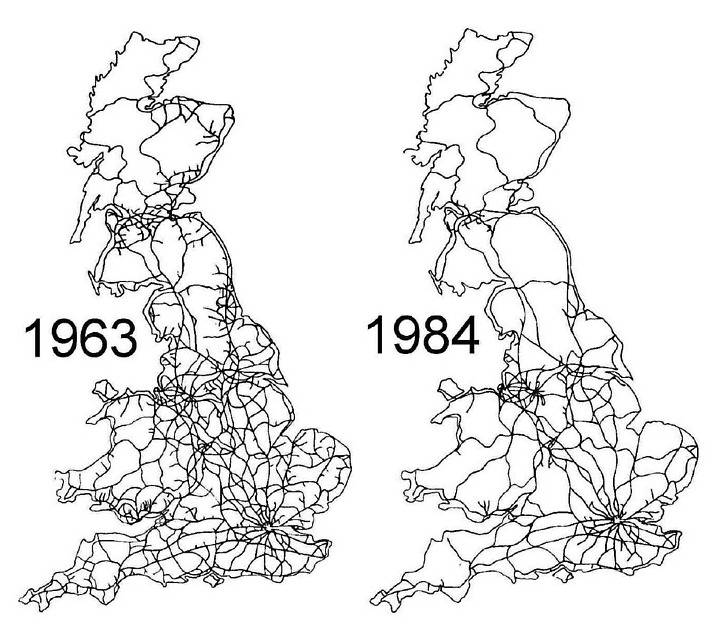 The Beeching Cuts mapped