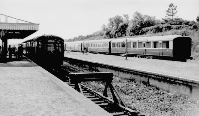 Camp Coach No 157 at Mundesley Station - 1958-60