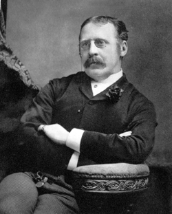 Clement Scott, from a copy of the Theatre magazine, aged about 40