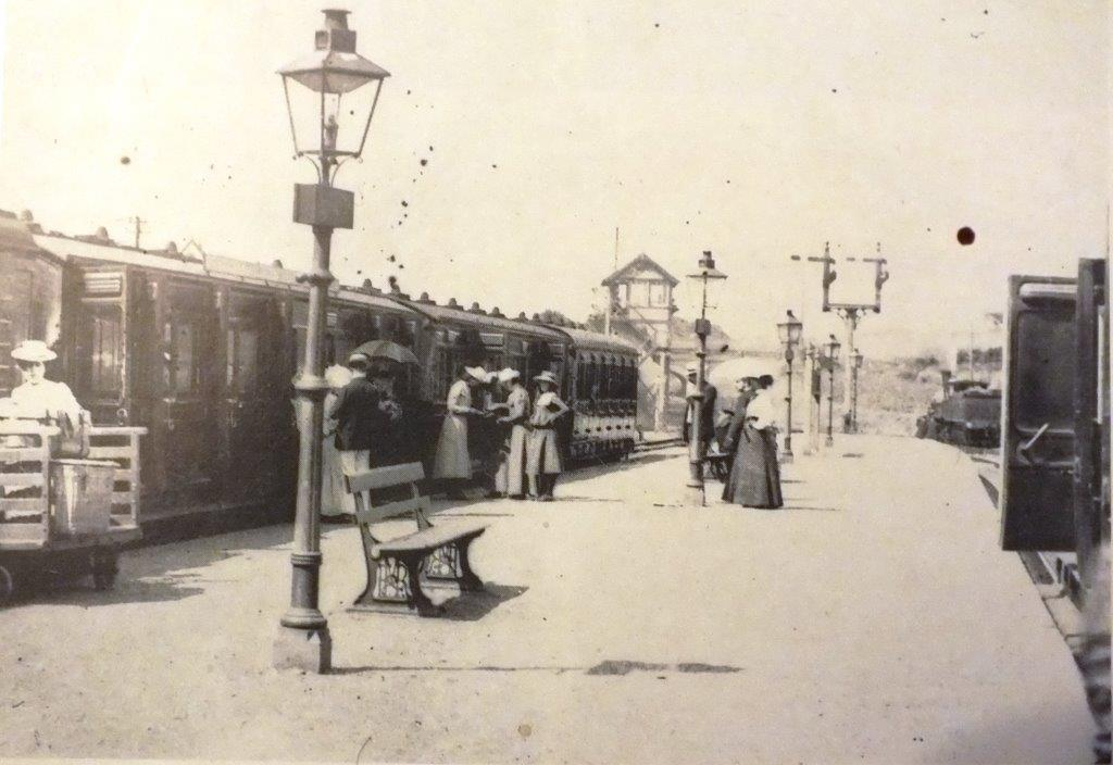 Cromer Beach station in the 1890s