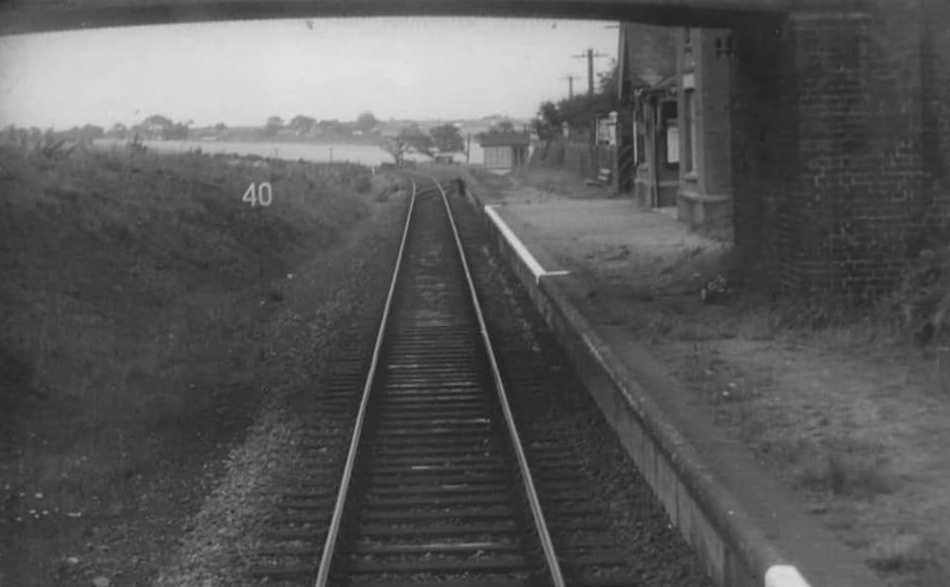 Paston & Knapton station viewed from the track