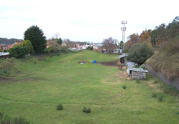 Looking Northwest towards the site of Cromer High - Autumn 2005