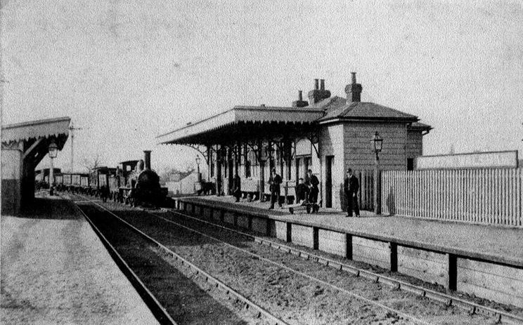 m Main station - 1880s - Sinclair Y class loco heads a goods train