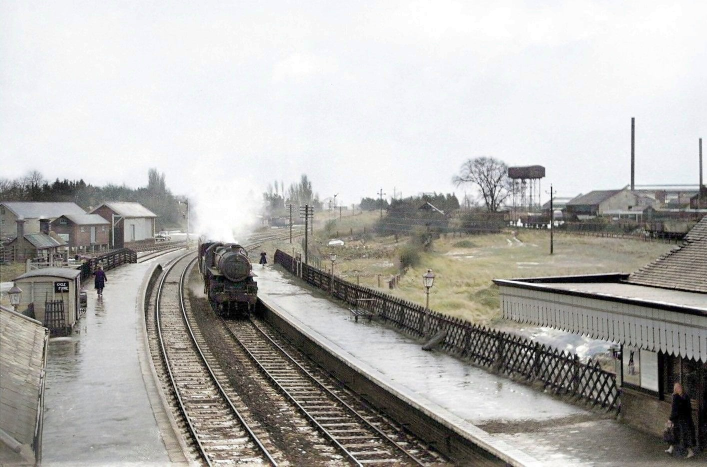North Walsham Town station on 9th Jan 1959