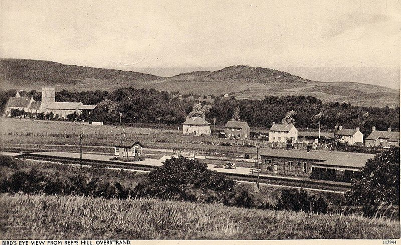 Overstrand from Repps Hill - 1900s Old postcard