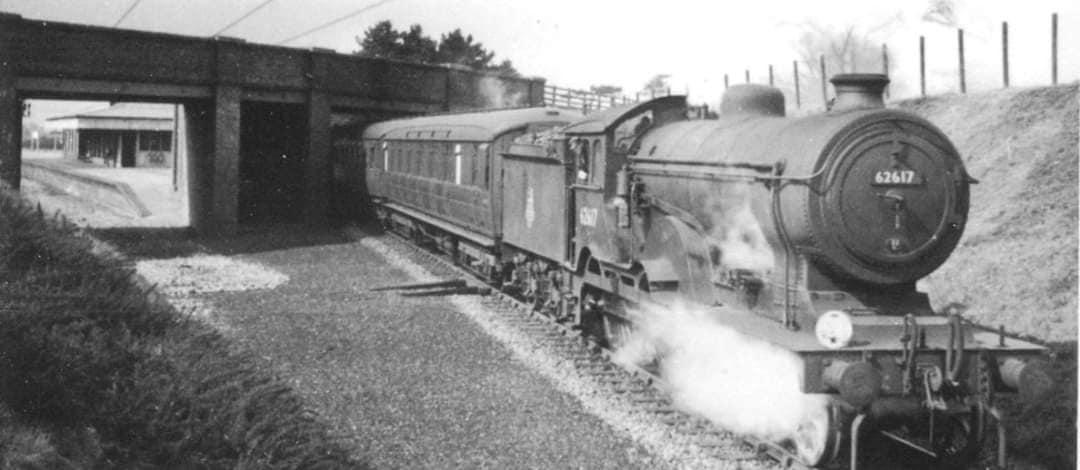 Steam train leaving Trimingham Station