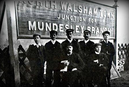 North Walsham station staff - 1898-1906